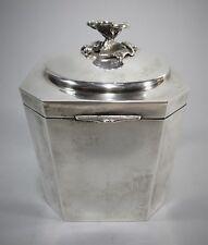 "Beautiful WELSCH Company of Peru Sterling Silver Tea Caddy Box 5"" Tall 347g"