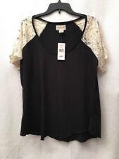 NWT Denim & Supply Ralph Lauren Womens Short Sleeve Top Blouse Shirt Size XL