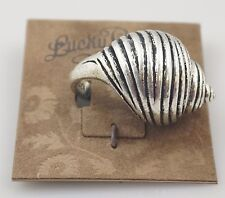 Lucky Brand Ocean Shell Swirl Seashell Beach Silver Tone Bohemian Ring, SZ 7,NWT