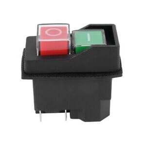 Waterproof Electromagnetic Push Button Switch 5 Pins KJD17 220-240V Coil Ma Y7I7