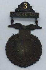 Tiffany & Co. Antique Spanish American War 3 Year Marksman Military Medal Pin