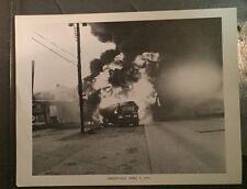 2 PHOTOS APRIL 5,1970 PHOTO GREENVALE OIL TRUCK FIRE LONG ISLAND NEW YORK LI  NY