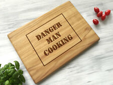 Engraved Cutting Board Danger Man Cooking Custom Choping Board Christmas Gift