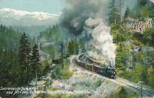 SACRAMENTO CANYON CA – Sacramento Canyon and Mt. Eddy on Southern Pacific Line