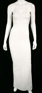 HERVE LEGER White Sweetheart Neckline Strapless Bandage Gown XS