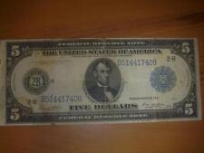 1914 5 DOLLAR USA - BANKNOTE FEDERAL RESERVE BANK