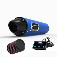 HMF Performance Slip On Exhaust Blue Black Euro Cap EFI Optimizer K&N LTZ 400