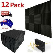 "12pc Studio Acoustic Foam Sound Absorption Proofing Panel Wedge Karaoke  12""x12"""