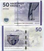 DENMARK 50 KRONER 2012 / 2014 P 65 g SIGN Jensen & Sørensen UNC