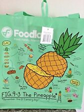 HAWAIIAN  FOODLAND FRUITS LIGHT GREEN REUSABLE SHOPPING BAG / BEACH BAG