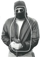 """NTC-300 Hooded Man w/gun & FBI-Q scoring, Cardboard (bundle of 30), 19"""" x 30"""""""
