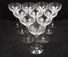 """Vintage Etched Crystal Laurel Wreath 10 Cocktail Liquor Glasses, 5 1/4"""""""