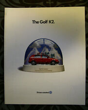 VW VOLKSWAGEN GOLF K2 1996 dealer brochure - English - Canadian Market