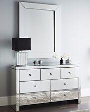 Mirrored 7Draws XLarge Venetian Glass Mirror Chest of Draws Luxury Storage Unit