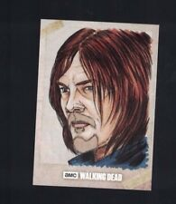 Walking Dead Daryl Dixon One of One Hand Drawn Colored Sketch Card 1/1