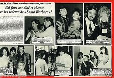 Coupure de Presse Clipping 1986 (2 pages) Serie Santa Barbara