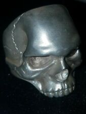 SILVER SKULL RING SOLID.925 HEAVY MENS RING SIZE 11 CASTED BY ME 18 GRAMS!!!!!!!
