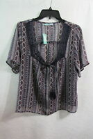 New Women's Maurices Sheer Top Size XL