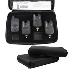 4Pcs Wireless Bite Alarms & Receiver Run LED 3+1 Bite Alarm Set Waterproof