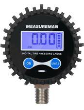 Measureman 2 12 Dial Size Digital Air Pressure Gauge With 14 Npt Bottom