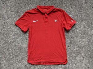 Nike Premier RF Roger Federer Olympics 2016 Switzerland Tennis Polo Shirt sz S