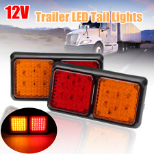 2x 72LED Tail Light Lamp Brake Turn Signal Ute Indicator 12V Trailer Truck Lorry