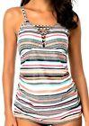 New Beachsissi Swimwear Tankini Set Powerful Love Stripe Bathing Suit Sz Med, 6