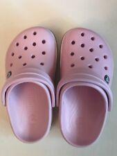 Girls junior sz 1 Crocs footwear Pink Clogs Summer Cool J 1 Childs