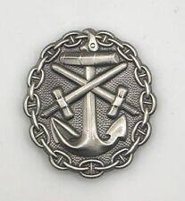 Insigne allemand des blessés Kriegsmarine argent 1914-18 - REPRO qualité