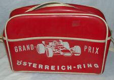 Unusual Vintage 1970s AUSTRIAN GRAND PRIX Promo Vinyl Satchel Handbag Formula 1