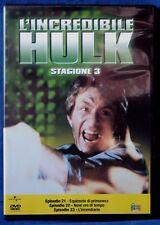 L'INCREDIBILE HULK - STAGIONE 3 - EPISODI 21-23 - DVD N.02648
