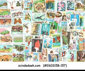 COLLECTION OF COLORFUL STAMPS OF LAO - 400V - USED - L@@K!!!!