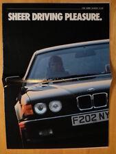 BMW RANGE 1988 1989 UK Mkt Brochure Broadsheet - 3 5 6 7 Series M3 M 635 CSi
