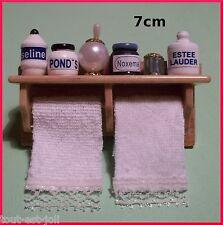 étagère salle de bains miniature,maison de poupée,parfumerie,garni de pots **S6