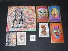 Geschichte,Kultur,Masken,Trachten,auf,Briefmarken,4 Länder (30)