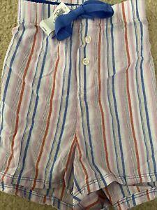 NEW Women's Gap Body 100% Cotton plaid pink/blue/white Pajama Short Shorts- XL