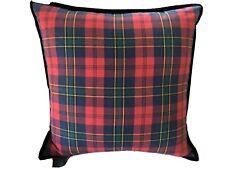 NWT RALPH LAUREN TARTAN PLAID Feather Toss Throw Pillow, Red, Black Blue, Green