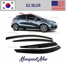 SMOKED DOOR WINDOW VENT VISOR DEFLECTOR (A140) KIA RIO HATCHBACK 2015-2016-2017