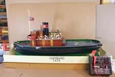RADIO CONTROL MODEL SHIP TUG BOAT ISAMBARD BRISTOL with CASE SUPERB ni