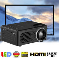 DE 1080P HD 3000 Lumen Projektor Heimkino Beamer Cinema USB LED VGA HDMI USB SD