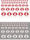 GI Joe Size Cobra Clear Background Red or White 44 x Die Cut Stickers/Decals