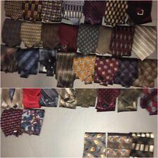 Lot of 36 + Used Mens Neckties Ties Crafting Quilting