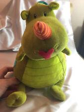 "Lilliputiens Walter Activity Dragon Crib Toy Plush Stuffed Animal 12"" Musical"