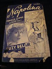 Partition Napolina Francis Lopez Suzy Delair Music Sheet