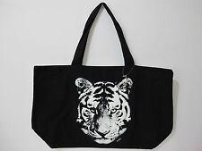 (1) NWOT Victoria's Secret PINK Black/White Tiger Head XL Tote *FREE SHIP*