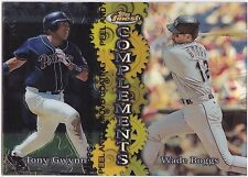 1999 Topps Finest REFRACTOR  Complements C2 Boggs and Gwynn - mint