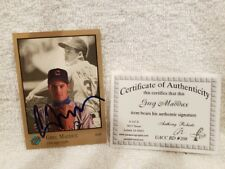 SWEET 1992 Studio #15 Greg Maddux Autographed Card, Chicago Cubs, VERY NICE!