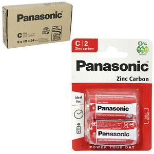 Panasonic Batteries Type C Size LR14 1.5 Zinc Carbon Long Expiry
