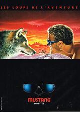 PUBLICITE ADVERTISING 064 1991  MUSTANG  optique lunettes solaires