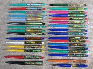 Vtg Floaty Pen Lot of 32 Different Souvenir Denmark Eskesen Disney Tennessee